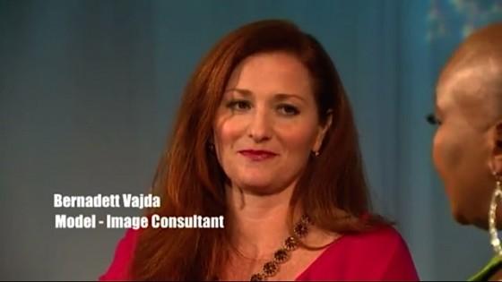 Image consultant Bernadett on TV