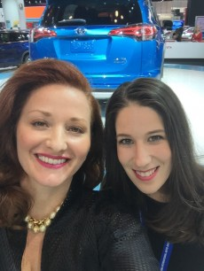 Bernadett and Jessica Hodges at the New York International Auto Show